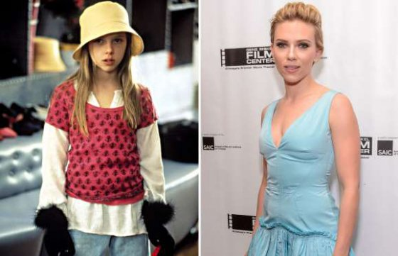 Scarlett Johansson (1996 and 2016)