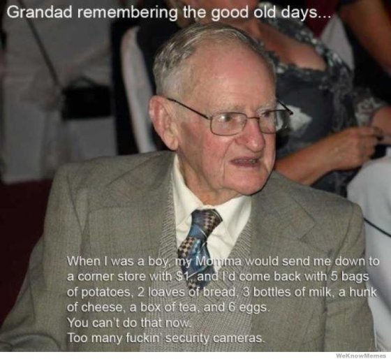 Granded remembering the good old days..